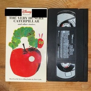 Vintage vhs video The Hungry Catepillar Disney